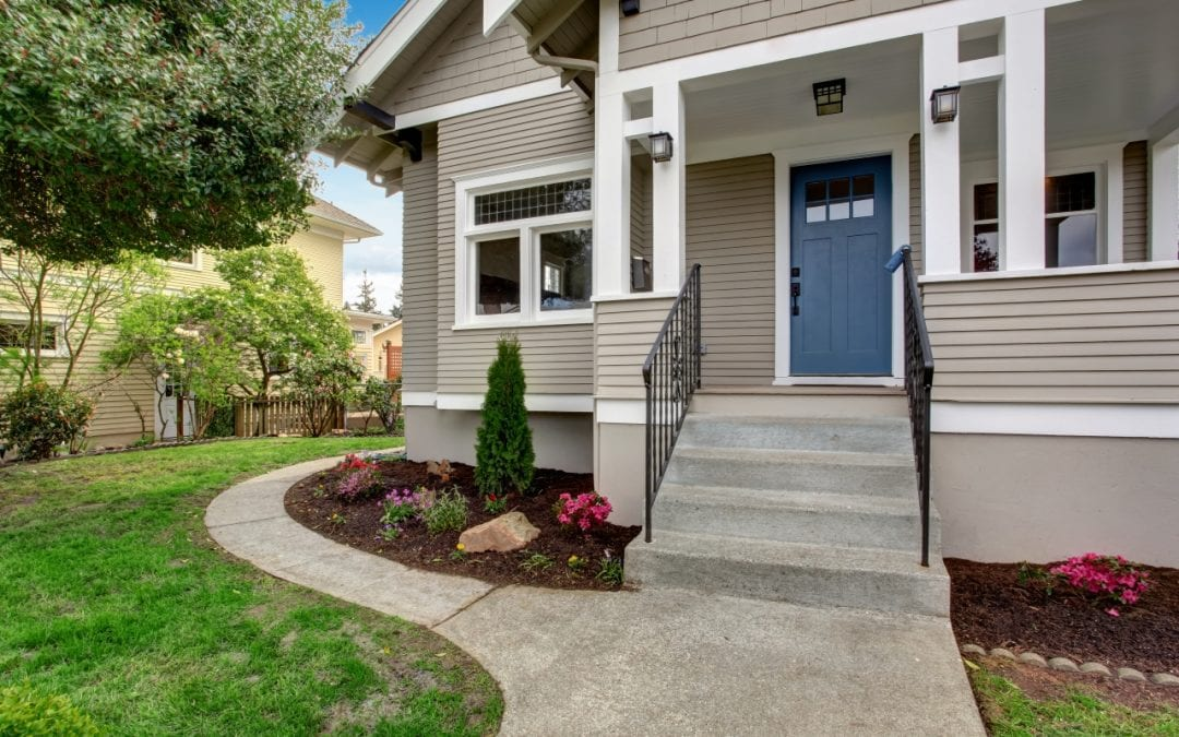 improve curb appeal by tidying the front porch
